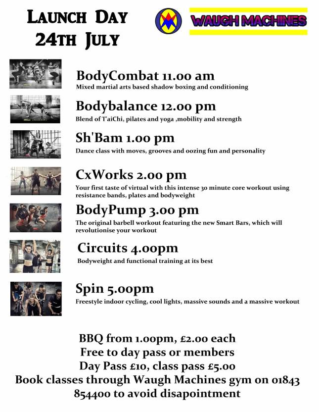 Launch day timetable